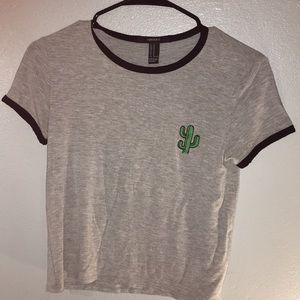 F21 Women's Cactus Semi Cropped Tee